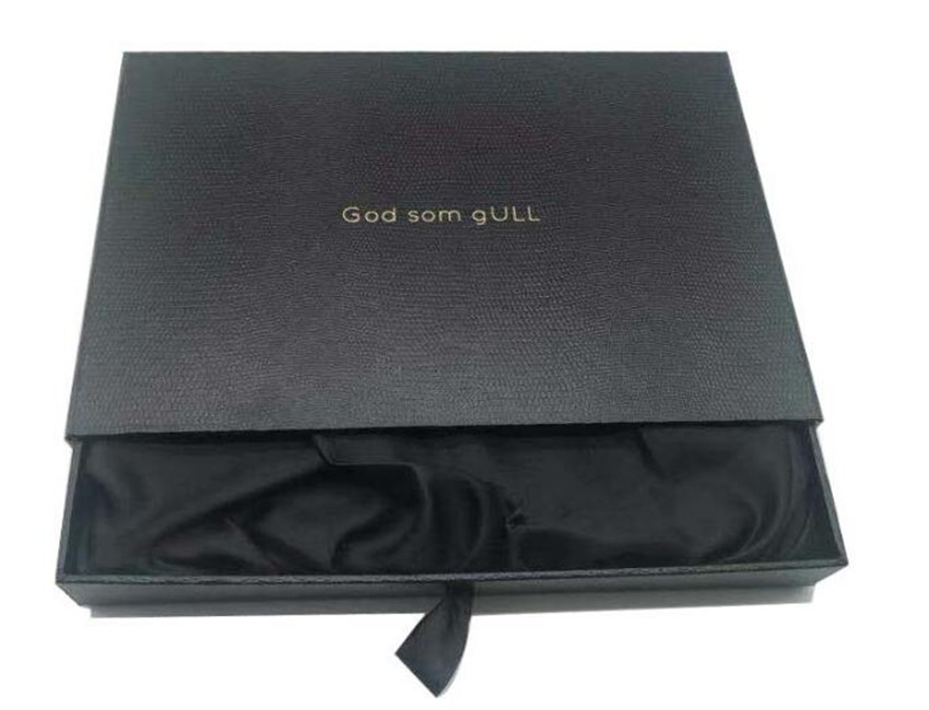 Black Rigid Drawer Paper Box