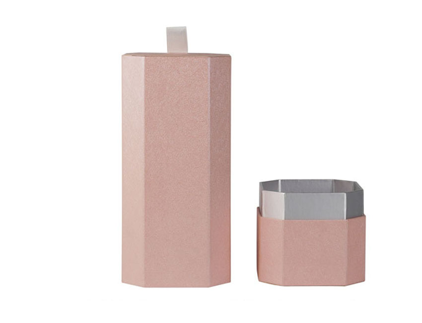 Pink Tube Paper Boxes